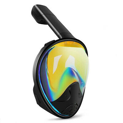 Snorkeling Snorkel Mask Diving Goggles W/Breather Pipe Full Face Seaview anti UV