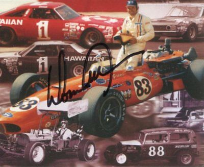 Donnie Allison NASCAR Indy Driver ROY HOF Hall Of Fame Signed Autograph Photo