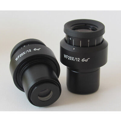 WF20X High Eye-point Plan Eyepiece f Stereo Microscope Diopter Adjustable Optics