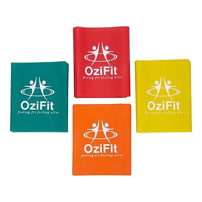 OziFit - Resistance Band Set Exercise To Fitness | Light - Heavy Gym Workouts