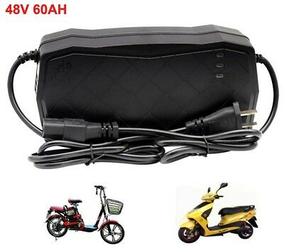 48V 6.5Amp 60AH Lead Acid Battery Charger for Electric Bike Scooters Bicycle