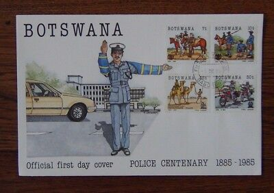 Botswana 1985 Centenary of Botswana Police set on First Day Cover