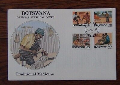 Botswana 1987 Traditional Medicine set  on First Day Cover