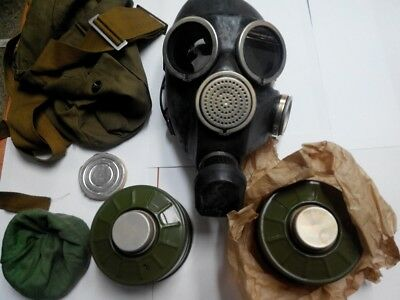 GAS MASK GP-7 (1-Mask,1-Filter,1-Bag), Soviet Russian Army