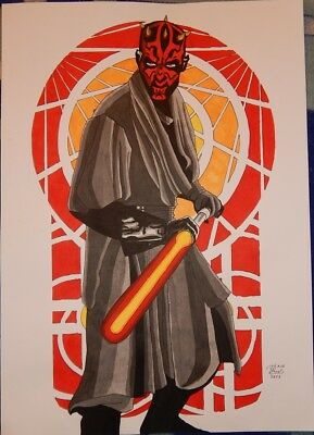 STAR WARS A3 Darth Maul Commission by DAVE MENDES --> Zeichnung, Sketch, Marvel