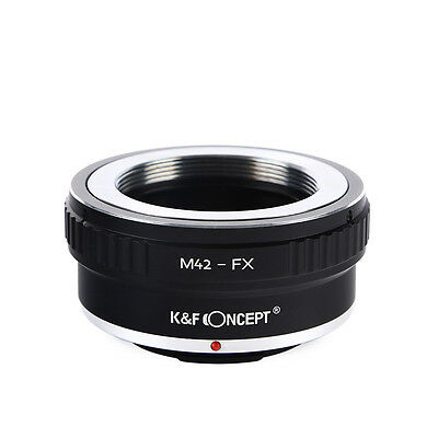M42-FX Adapter Ring K&F Concept for M42 Lens to Fuji Fujifilm FX Mount Cameras