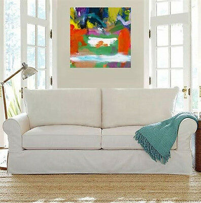 Contemporary art, Abstract Acrylic Painting On Canvas,Modern Decor, Milk Pool