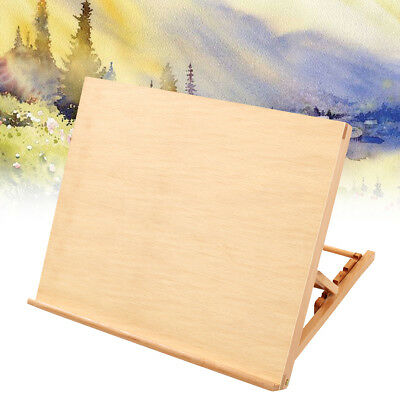 Wood Easel Artist Display Stand Art Painting Table Adjustable Drawing Board