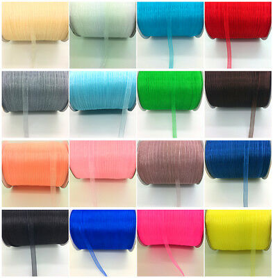 "10yds 1/4"" 6mm Satin Edge Sheer Organza Ribbon Bow Hair DIY Wedding Decoration"