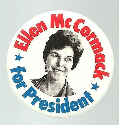 ELLEN McCORMACK RIGHT TO LIFE PRESIDENT POLITICAL CAMPAIGN PIN