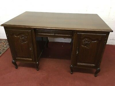 Outstanding Quality French Carved Oak Desk