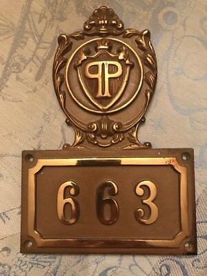 Antique Vintage Plaza Hotel New York Brass Door Numbers  (ONLY 243, 661, 663)