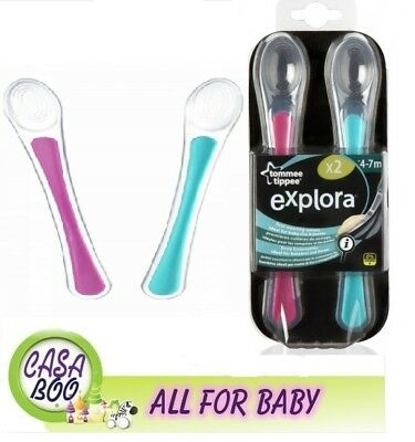 Tommee Tippee Free Bpa First Baby Silicon Spoon Soft 4-7m+ 2 pcs