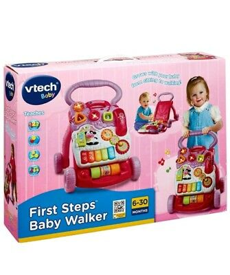 Vtech First Steps Musical Baby Walker From 6 Months Pink *New & Sealed*