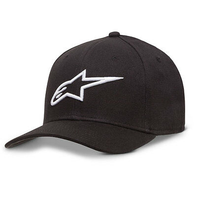 Alpinestars Men's Ageless Curve Flexfit Hat Black Baseball Cap Headwear Clothing