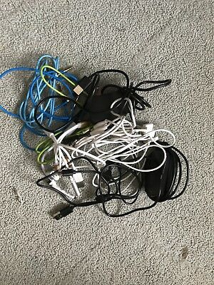 Chargers wires data cables lot of 12 bunch