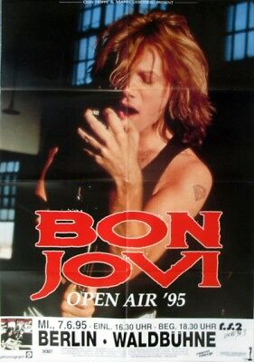 BON JOVI - 1995 - Konzertplakat - Concert - Open Air - Tourposter - Berlin - GF