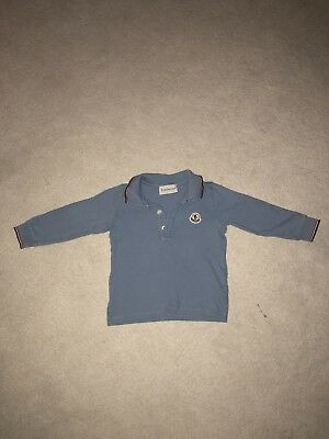 c43790ef1a1a MONCLER Baby Boys Light Blue Polo Top Aged 9 Months - £10.00 ...