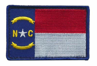 Tactical North Carolina State Flag Embroidered Patch