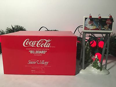 New Department 56 Snow Village Coca Cola Billboard Accessory #5481-0