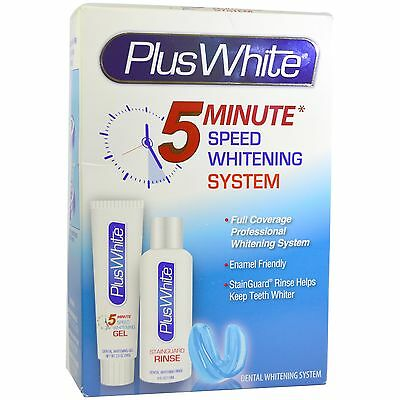 Plus White 5 Minute Tooth~Teeth Whitening System+Free Shade Guide 0.1% Hp