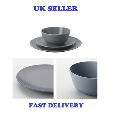 Ikea Dining Plate Set 18 Piece Dinner Service Dinera Grey-Blue Quality Stoneware  sc 1 st  PicClick UK & IKEA DINING PLATE Set 18 Piece Dinner Service Dinera Grey-Blue ...
