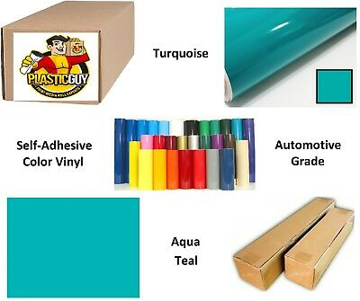 "Aqua Blue Self-Adhesive Sign Vinyl 24"" x 150 ft or 50 yd (1 Roll)"