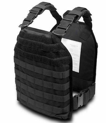 Modular Plate Carrier Tactical Vest - Black - Security Pro USA