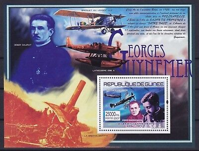 Guinea Block 1458 (5258) **, Georges Guynemer - Flugzeuge / Airplanes