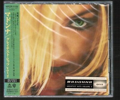 Sealed MADONNA GHV2(Greatest Hits Vol.2) JAPAN CD WPCR-11130 w/OBI+PROMO STICKER