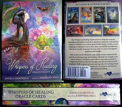 NEW Whispers of Healing Oracle Cards Tarot Hartfield & Wall psychic inspiration