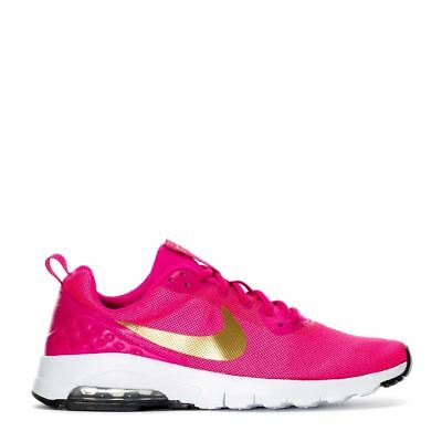NEW Nike Air Max Motion Youth Girls Shoes 917654-600 Laser Pink Metallic Gold