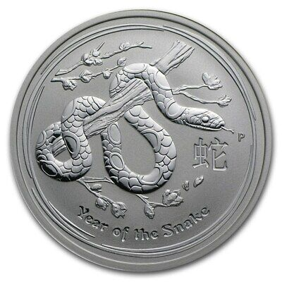 2013 YEAR OF THE SNAKE - 2oz. 999 SILVER 2 DOLLARS - ORIGINAL PERTH MINT ROLL