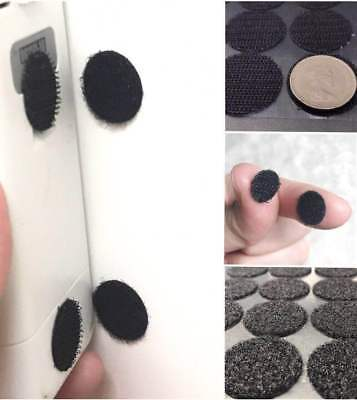 12mm 20mm 30mm Hook and Loop Dots Coins Double Sided Adhesive Circle Disc Black