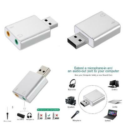 External USB Sound Card HIFI  7.1CH Microphone-in Audio-out Port Free Drive Plug