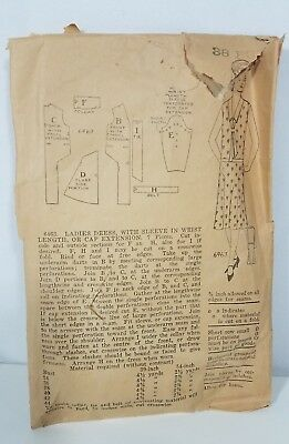 Antique sewing pattern Art deco ladies dress collector ads