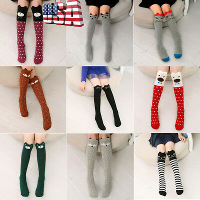US Kids Toddlers Girls Knee High Socks Tights Leg Warmer Stockings For Age3-12