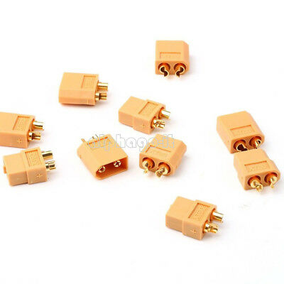 2/5/10Pairs XT60 Male&Female Bullet Connectors Plugs for RC Lipo Battery