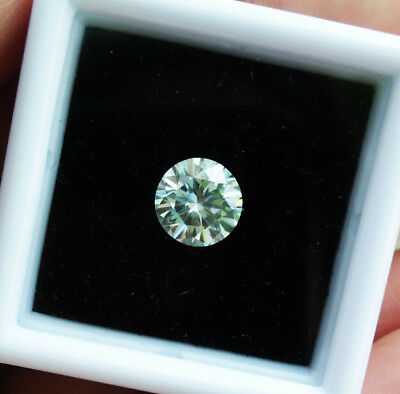 6mm. 100% REAL MOISSANITE ROUND BRILLIANT CUT TOP Quality (E-F) VVS1 CLEAN!!