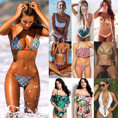 2018 New Sexy Women Bikini Set Push-up Padded Bra Swimsuit Swimwear 11 Styles