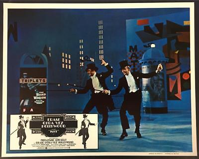 Gene Kelly Fred Astaire top hat & tails That's Entertainment 2 lobby card 1616