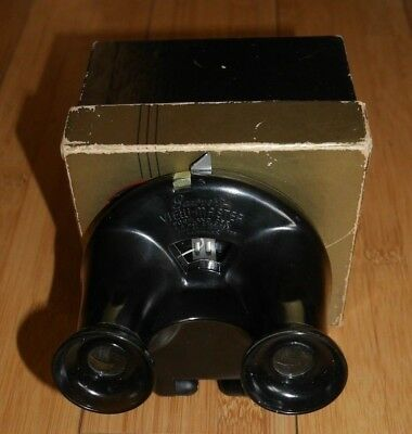 * Boxed * Sawyer's Viewmaster Viewer Rare Black Clamshell Model B 1944-47   A785