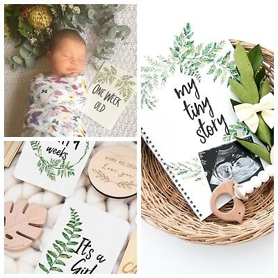 Baby Memory Journal - Pregnancy Milestone Cards - Baby Milestone Cards - Bundle