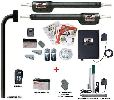 Mighty Mule Automatic Dual Gate Opener Package Wireless Vehicle Exit Sensor New