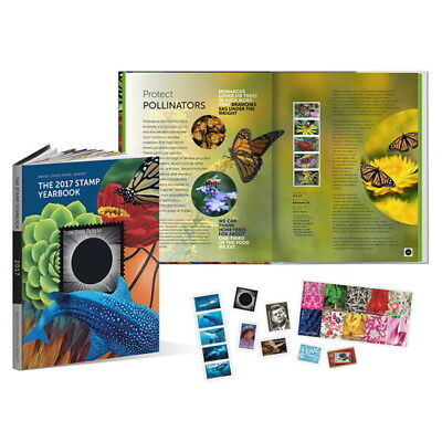 USPS New 2017 Stamp Yearbook w/Collectible Stamps