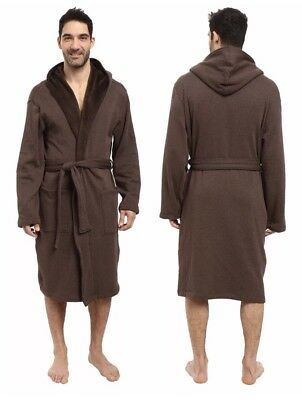 UGG Australia Brown Brunswick Hooded Robe Relaxed Fit Men s Size L XL Soft  NWT 60977ca8b