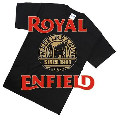 Royal Enfield T Shirt Biker Cafe Racer Classic Retro Motorcycle Gift S-5XL Sizes