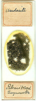 Andesite from Pilsen's Wood Staffordshire Microscope Slide for Polariscope