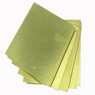H62 Thin Brass Copper Flat Stock Plate Sheets 0.5mm Thickness 10*10cm 4*4inch CA