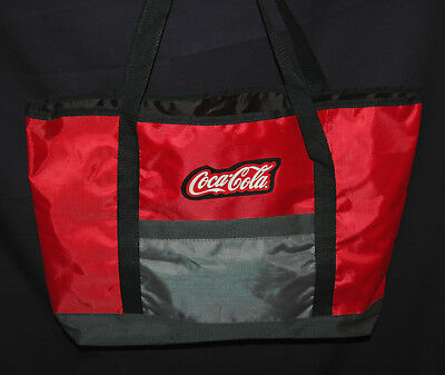 Coca Cola Soft Travel Bag Tote with Strap and Side Pocket Sleeve Red Coke Case